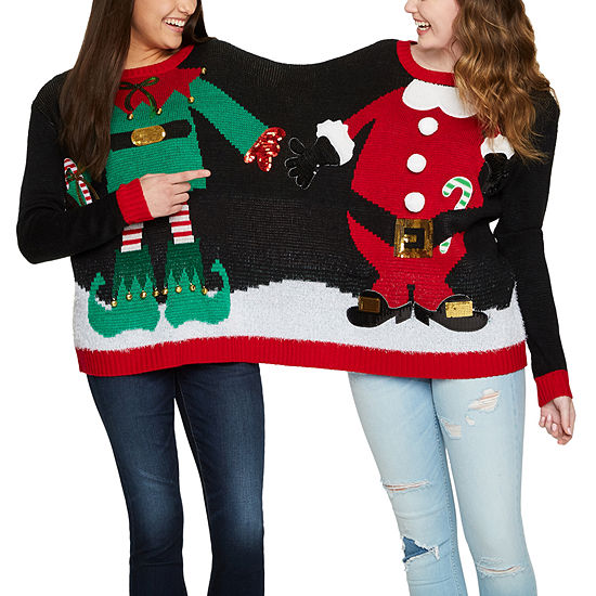Two Person Ugly Christmas Sweater-Juniors