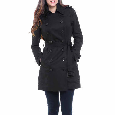 BGSD Women's Viv Hooded Mid Length Trench Coat