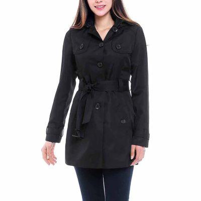 BGSD Women's Celia Hooded Mid Length Trench Coat