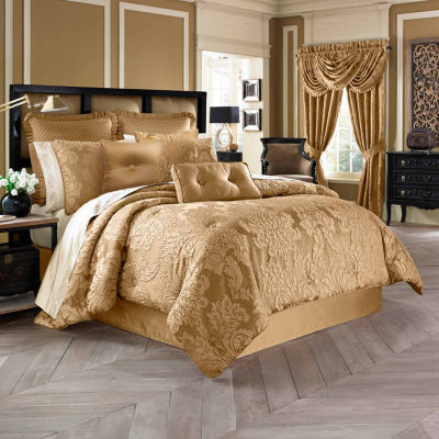 Five Queens Court Colonial 4-pc. Damask + Scroll Heavyweight Comforter Set