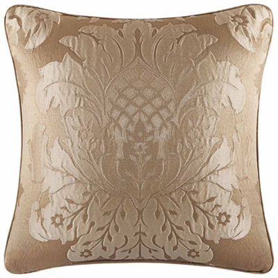 Five Queens Court Colonial Square Throw Pillow