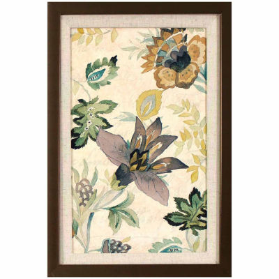 Decor Therapy Floral Brocade in Golden Bronze Finish Frame