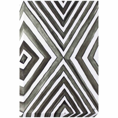 Decor Therapy Angled Grey Stretched Canvas