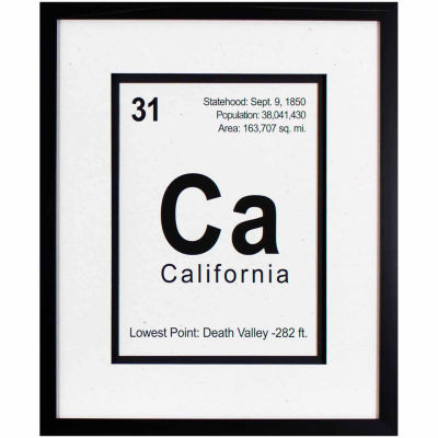 Decor Therapy Breaking California in Black Frame