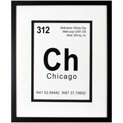 Decor Therapy Breaking Chicago in Black Frame