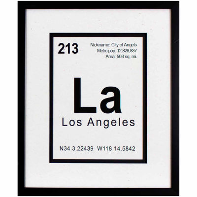 Decor Therapy Breaking Los Angeles in Black Frame