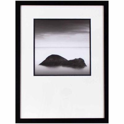 Decor Therapy Ocean Rocks in Black Frame