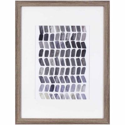 Decor Therapy Watercolor Chevron in Gray Oak WoodGrain Frame