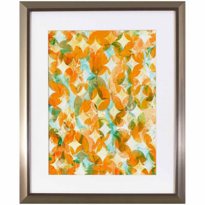 Decor Therapy Overlapping Orange in Stainless Steel Frame
