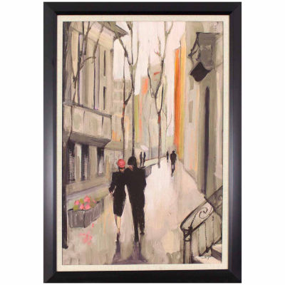 Decor Therapy Walking in the City in Dark Bronze Frame