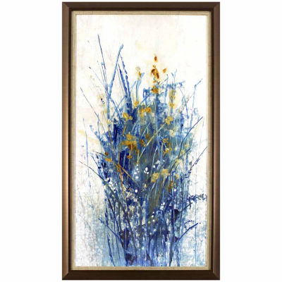 Decor Therapy Floral Burst in Golden Bronze Frame