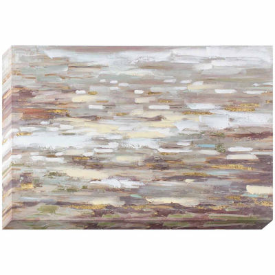 Decor Therapy Neutrality Oil Painted Canvas