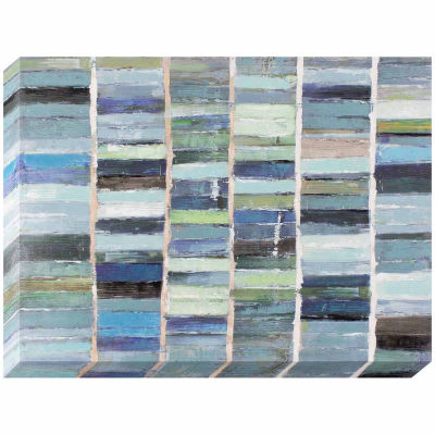 Decor Therapy Sea Glass Tiles Oil Painted Canvas