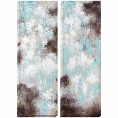 Decor Therapy Dawn and Dusk Oil Painted Canvas - Set of 2