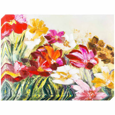 Decor Therapy Field of Flowers Oil Painted Canvas