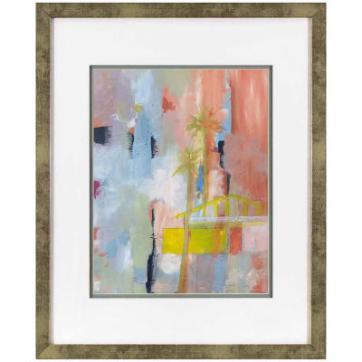 Decor Therapy Blushing Abstract in Distressed Silver Frame