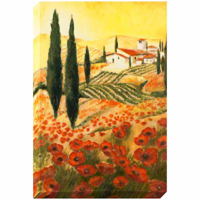 Decor Therapy Warm Tuscan Sunrise Stretched Canvas