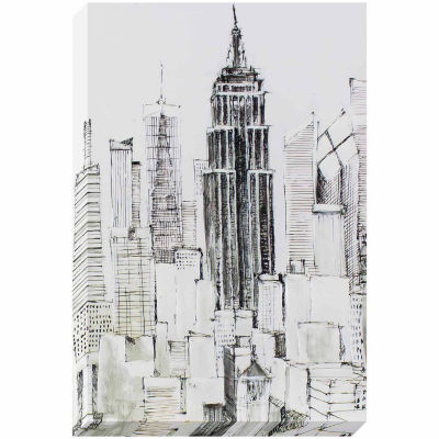 Decor Therapy New York Lines Sketched Canvas