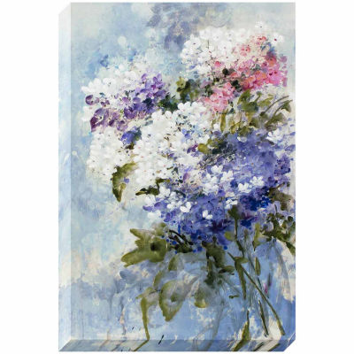 Decor Therapy Lilac Bouquet Stretched Canvas