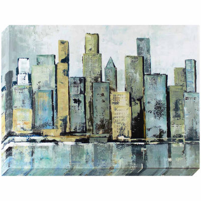 Decor Therapy City Reflections Stretched Canvas