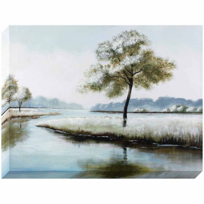 Decor Therapy Tranquil Riverbed Stretched Canvas