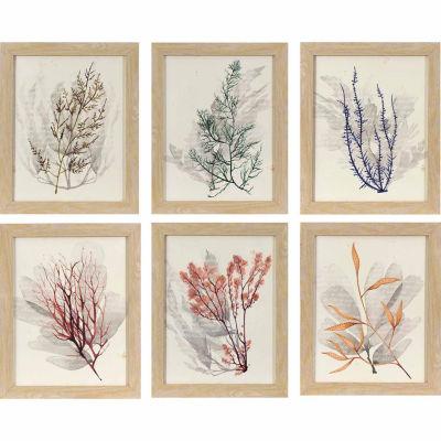 Decor Therapy Watercolor Sea Grass Wall Decor