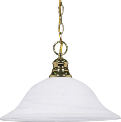 Filament Design 1-Light Polished Brass Pendant Hanging Dome