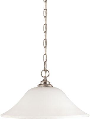 Filament Design 1-Light Brushed Nickel Pendant Hanging Dome