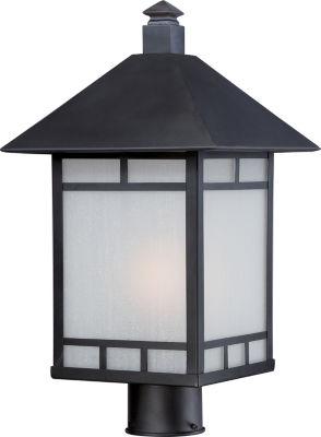 Filament Design 1-Light Stone Black Outdoor Post Light