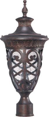 Filament Design 1-Light Dark Plum Bronze Outdoor Post Light