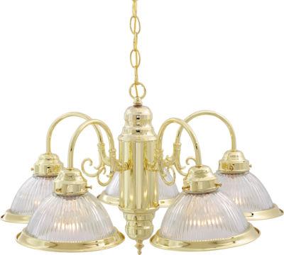 Filament Design 5-Light Polished Brass Chandelier