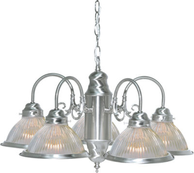 Filament Design 5-Light Brushed Nickel Chandelier