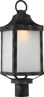 Filament Design 1-Light Iron Black Outdoor Post Light