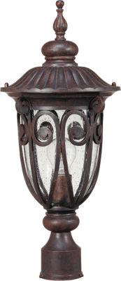 Filament Design 1-Light Burlwood Outdoor Post Light