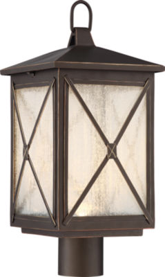 Filament Design 1-Light Umber Bay Outdoor Post Light