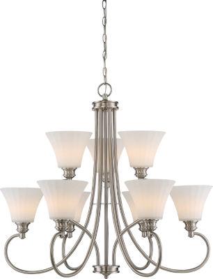 Filament Design 9-Light Brushed Nickel Chandelier
