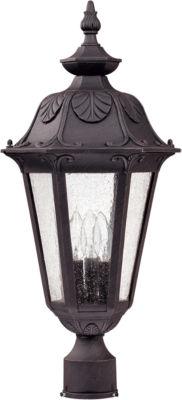 Filament Design 3-Light Satin Iron Ore Outdoor Post Light Light
