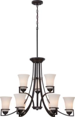 Filament Design 9-Light Sudbury Bronze Chandelier