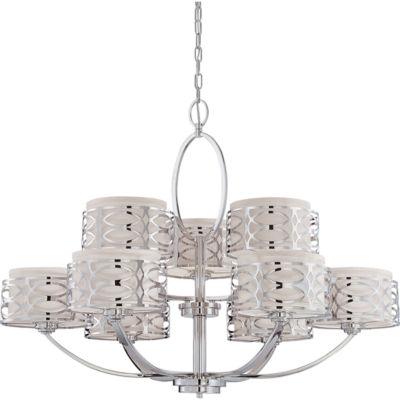 Filament Design 9-Light Polished Nickel Chandelier