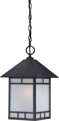 Filament Design 1-Light Stone Black Outdoor Hanging Lantern