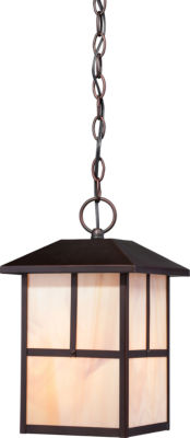 Filament Design 1-Light Claret Bronze Outdoor Hanging Lantern