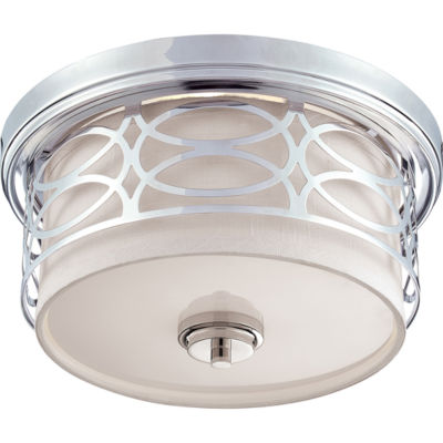 Filament Design 2-Light Polished Nickel Flush Mount