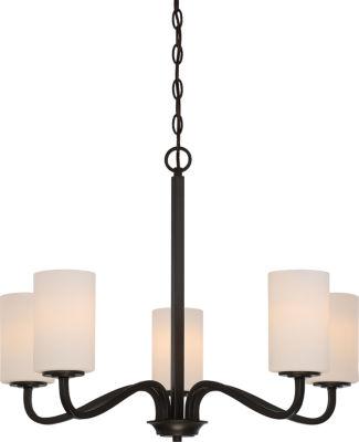 Filament Design 5-Light Forest Bronze Chandelier