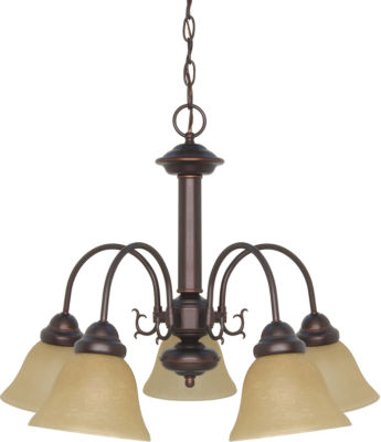 Filament Design 5-Light Mahogany Bronze Chandelier