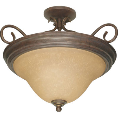 Filament Design 3-Light Sonoma Bronze Semi-Flush Mount