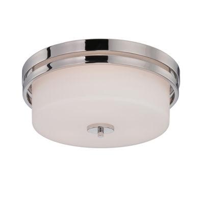Filament Design 3-Light Polished Nickel Flush Mount