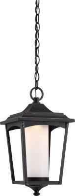 Filament Design 1-Light Sterling Black Outdoor Hanging Lantern