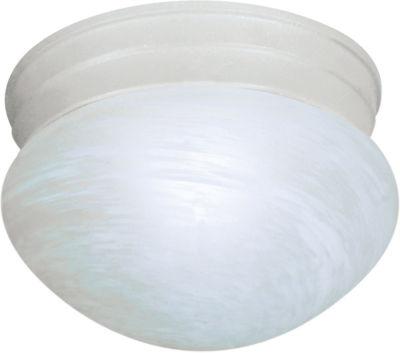 Filament Design 1-Light Textured White Flush Mount