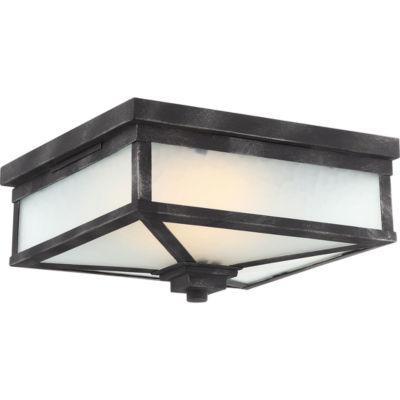 Filament Design 1-Light Iron Black Outdoor Flush Mount