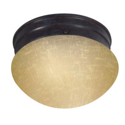 Filament Design 1-Light Mahogany Bronze Flush Mount